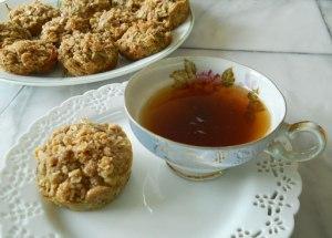 Zucchini Streusel Teacakes
